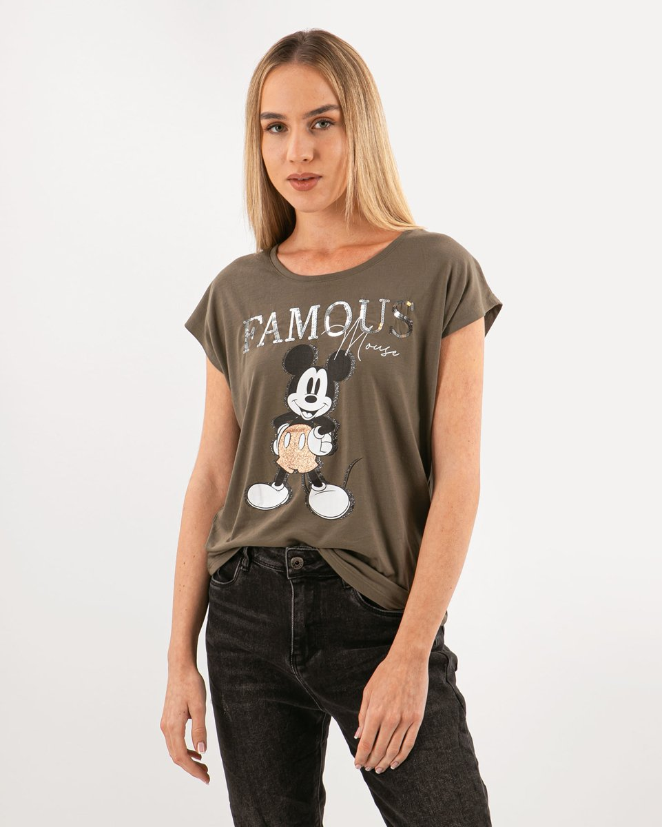 "Picture of Women's Short Sleeve T-Shirt ""Laury"" in Khaki"