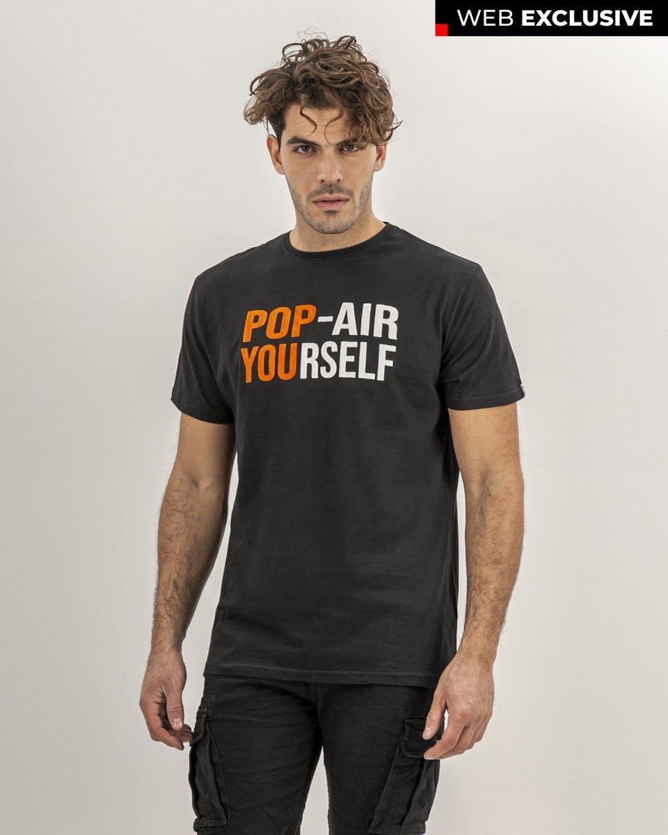 """Ανδρικό T-Shirt """"Yourself"""" Μαύρο"""
