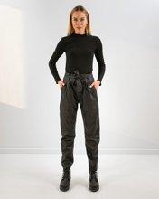 """Γυναικείο Παντελόνι Όψη Δερματίνης """"Lisa"""" Μαύρο"""