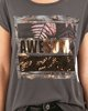 "Picture of Women's Short Sleeve T-Shirt ""Awesome"" Anthra"