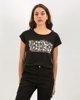 "Picture of Women's Short Sleeve T-Shirt ""Lua"" Black"
