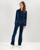 "Picture of Women's Velvet Cardigan ""Kalia"" in Blue Navy"