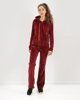 "Picture of Women's Velvet Sport Pants ""Kalia"" in Bordeaux"