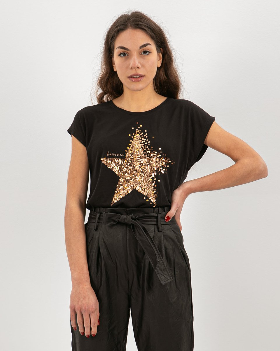 "Picture of Women's T-Shirt ""Estella"" in Black"