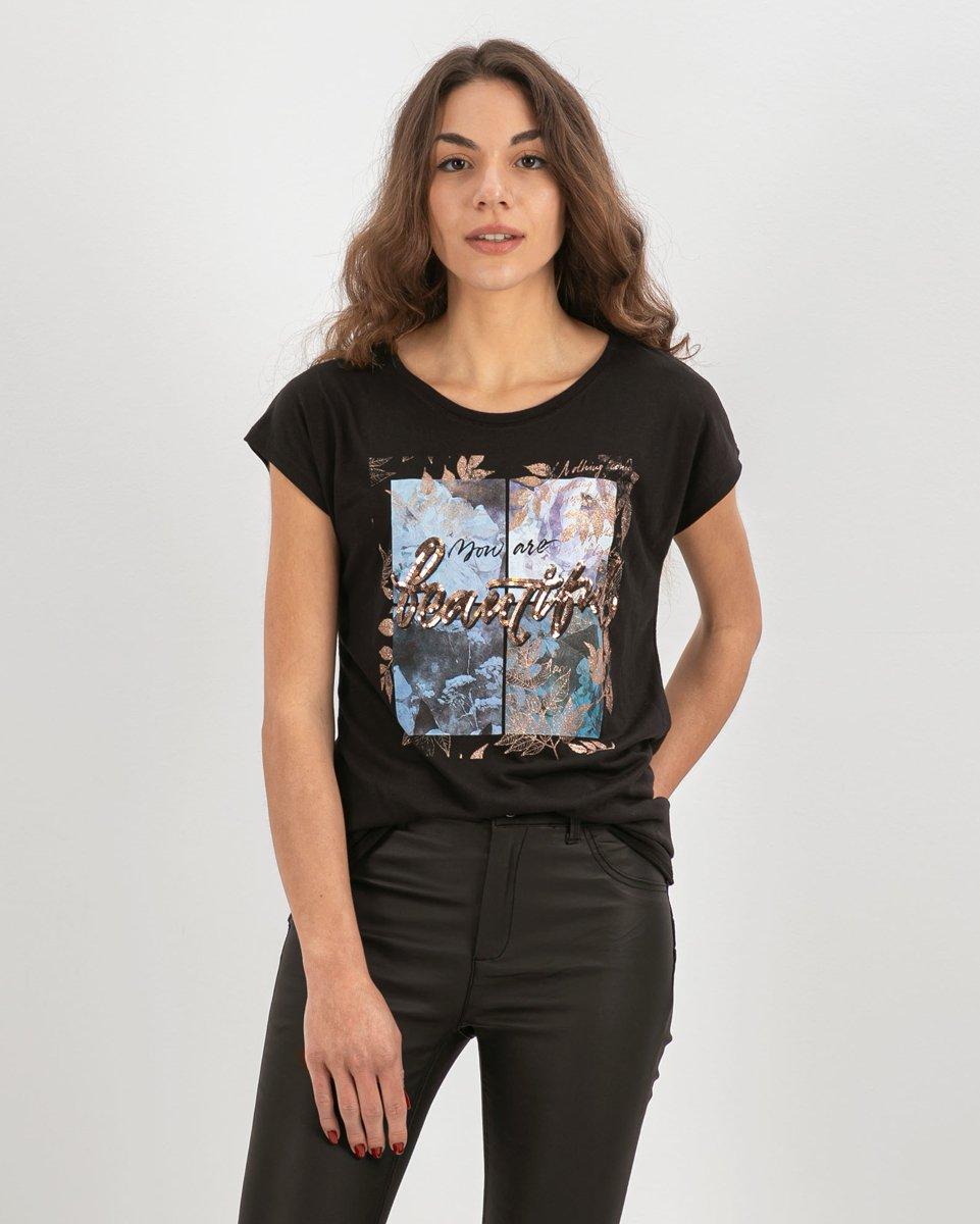 "Picture of Women's Short Sleeve T-Shirt ""Romana"" Black"