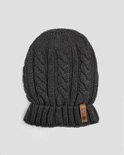 Picture of Men's Knitted Beanie in Anthra