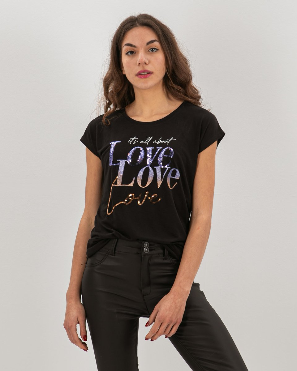 "Picture of Women's T-Shirt ""Valentina"" in Black"