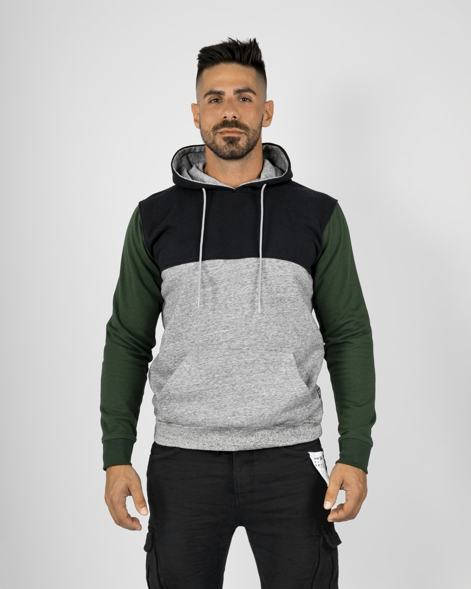 "Picture of Men's Hoodie ""Multi-Coloured"" in Green"