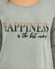 "Picture of Women's T-Shirt ""Happiness"" in Green"