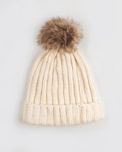 "Picture of Women's Ribbed Knit Hat ""Christin"" in Off-White"