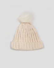"Picture of Women's Ribbed Knit Hat ""Chinny"" in Beige"