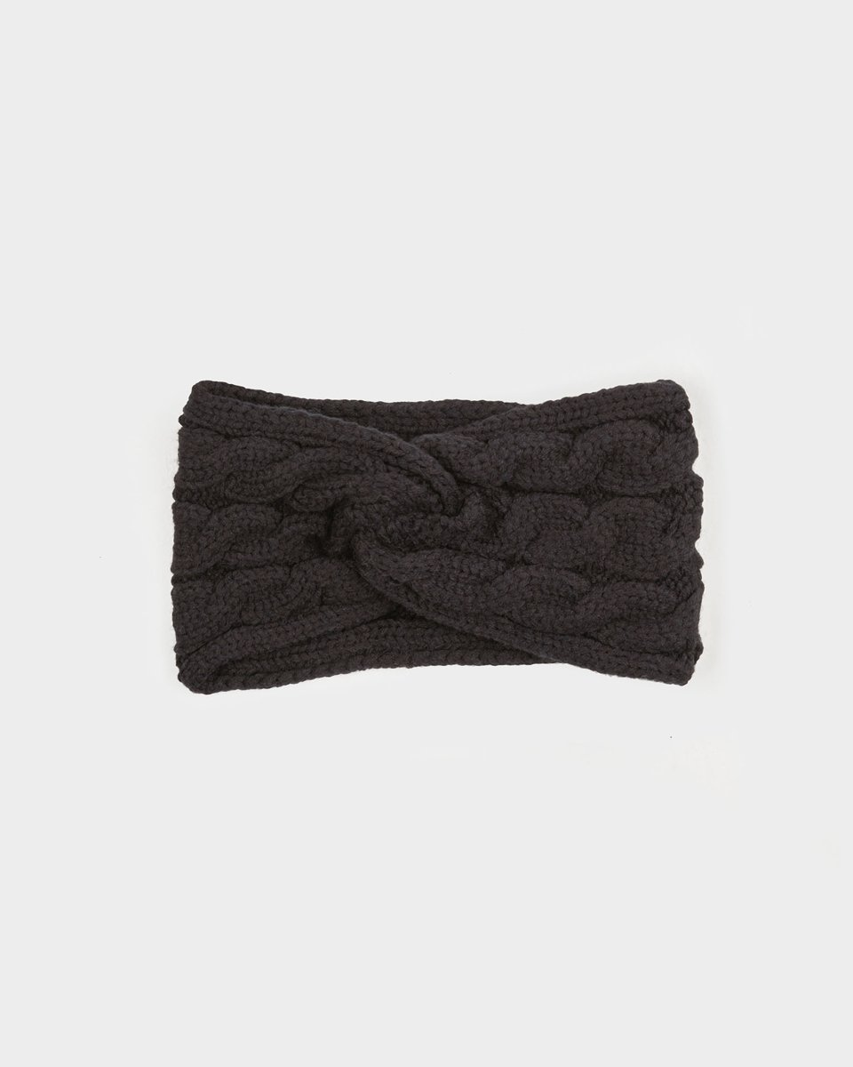 """Picture of Women's Knit Headband """"Roma"""" in Black"""