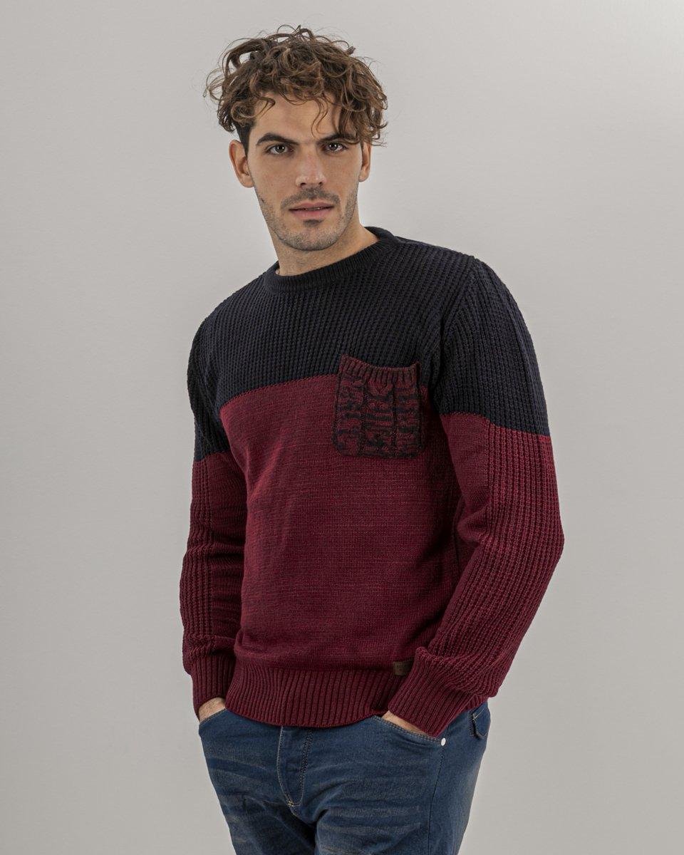 Picture of Men's Kint Sweater RGAR-(c.572) Blue Navy-Bordeaux