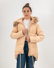 """Picture of Long Jacket with hood """"Victoria"""" in Ecru"""