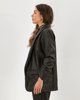 "Picture of Women's Faux Leather Blazer ""Katrina"" in Black"