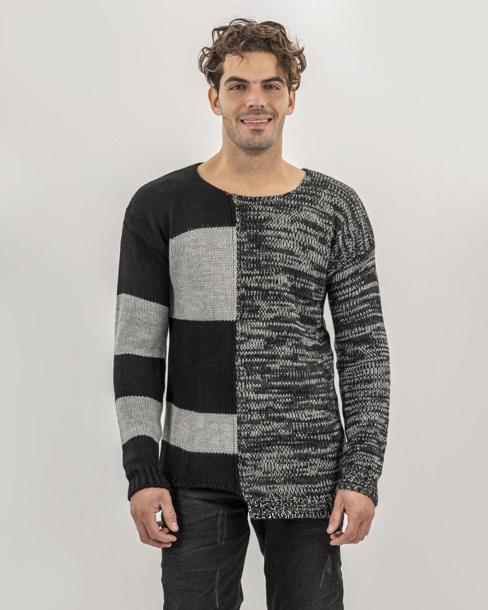 Picture of Men's Textured Pullover RGAR-(c.329) in Black