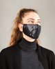 "Picture of Women's Washable Face Mask ""Heart"" in Black"