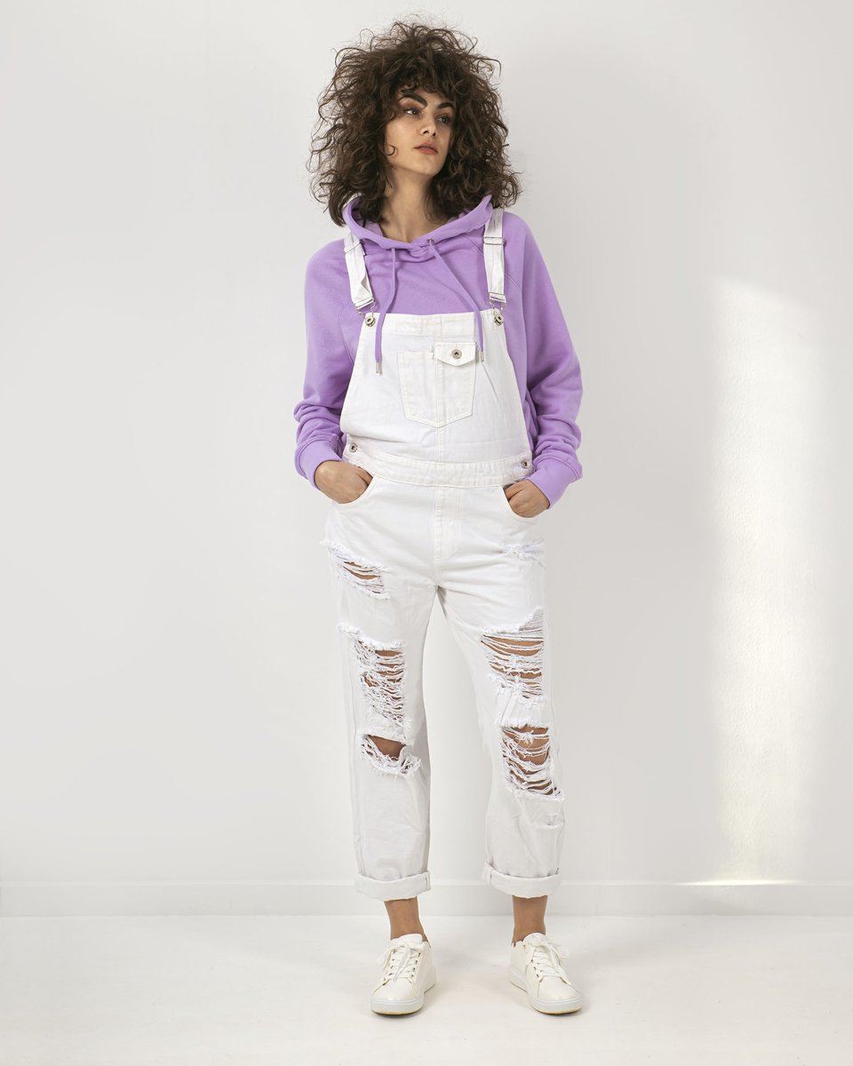 Picture of Women's Denim Dungarees (DM6902T-12) in White