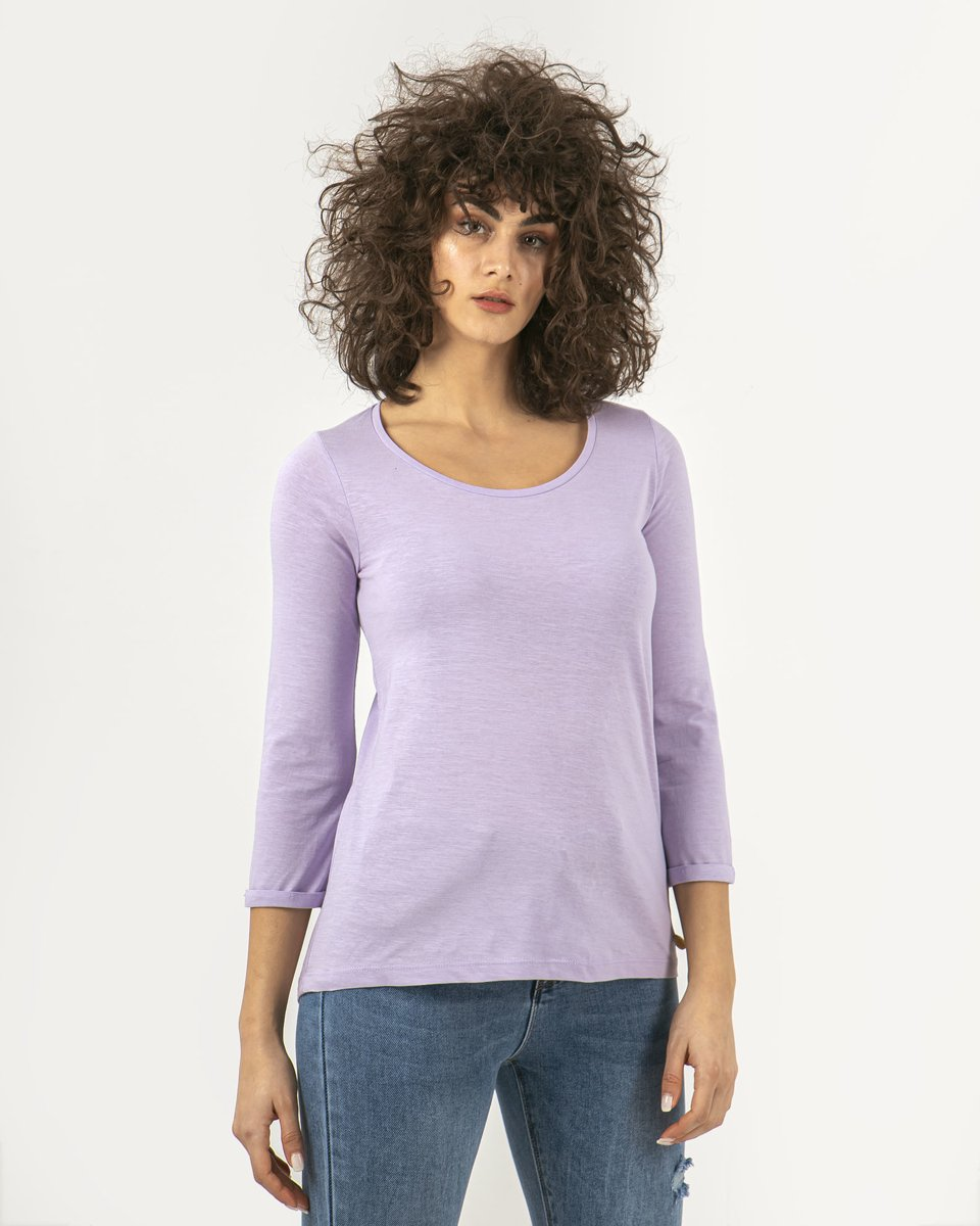 "Picture of Women's T-Shirt Flama 3/4 ""Princess"" in Purple"