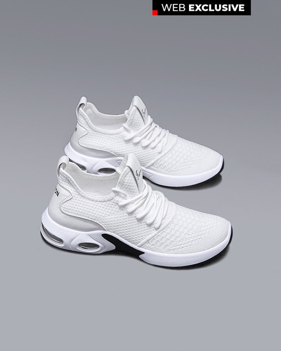 "Picture of Men's Technical Fabric Sneakers ""All Time"" in White"