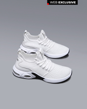 """Picture of Men's Technical Fabric Sneakers """"All Time"""" in White"""