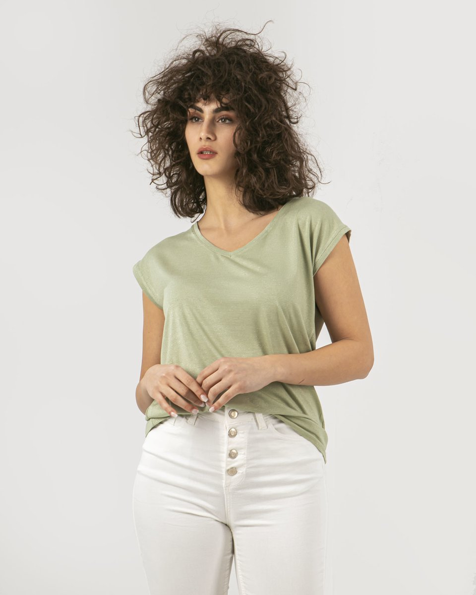 """Picture of Women's Short Sleeve T-Shirt """"Luxe"""" in Soft Green"""