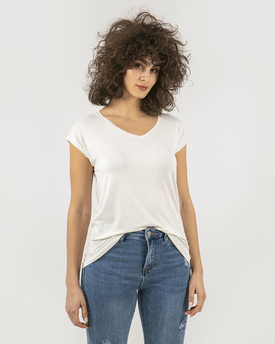 """Picture of Women's Short Sleeve T-Shirt """"Luxe"""" in White"""