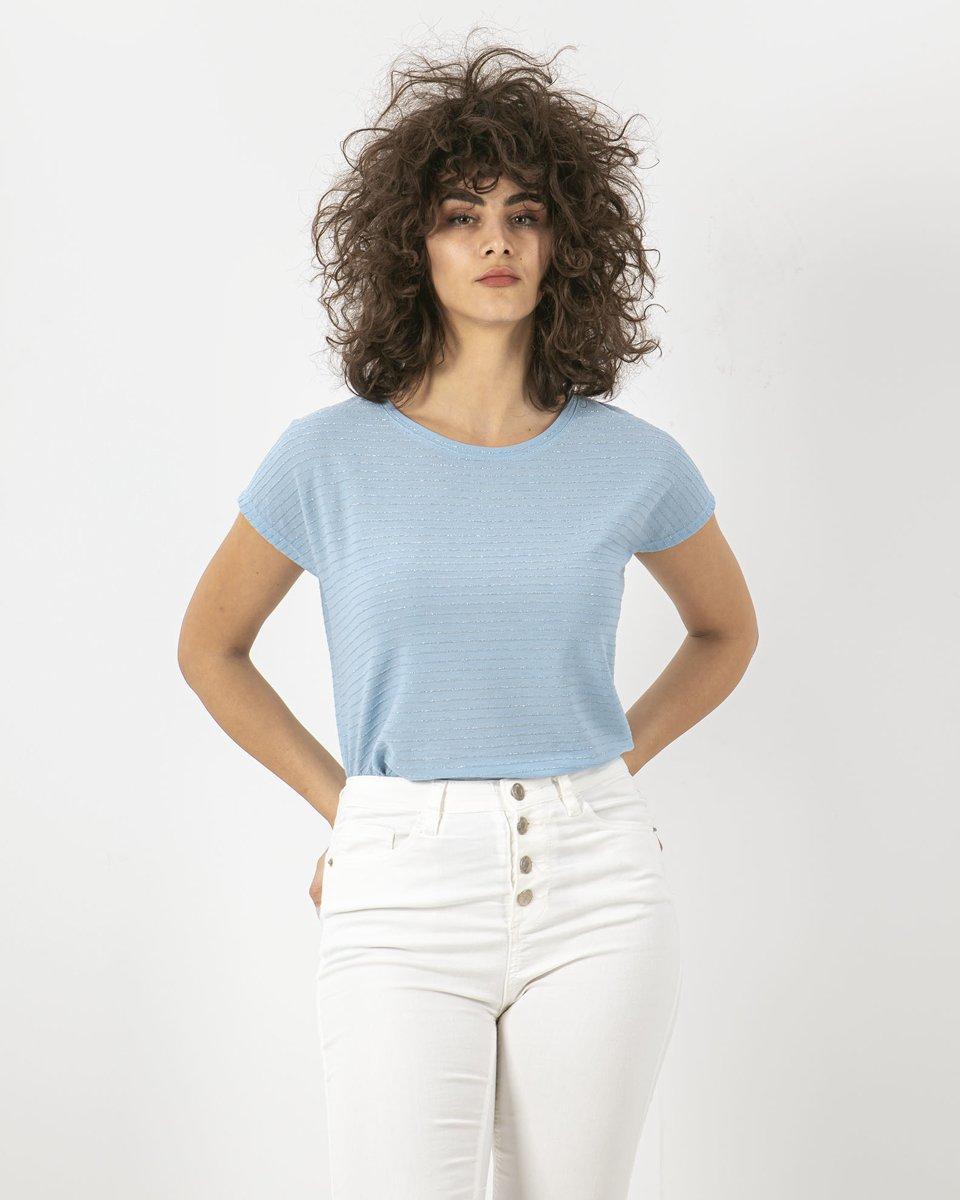 "Picture of Women's Short Sleeve T-Shirt ""Leila"" in Blue Light"