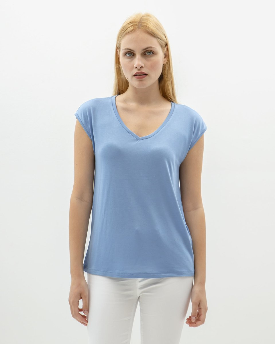 """Picture of Women's Short Sleeve T-Shirt """"Piper"""" in Blue"""