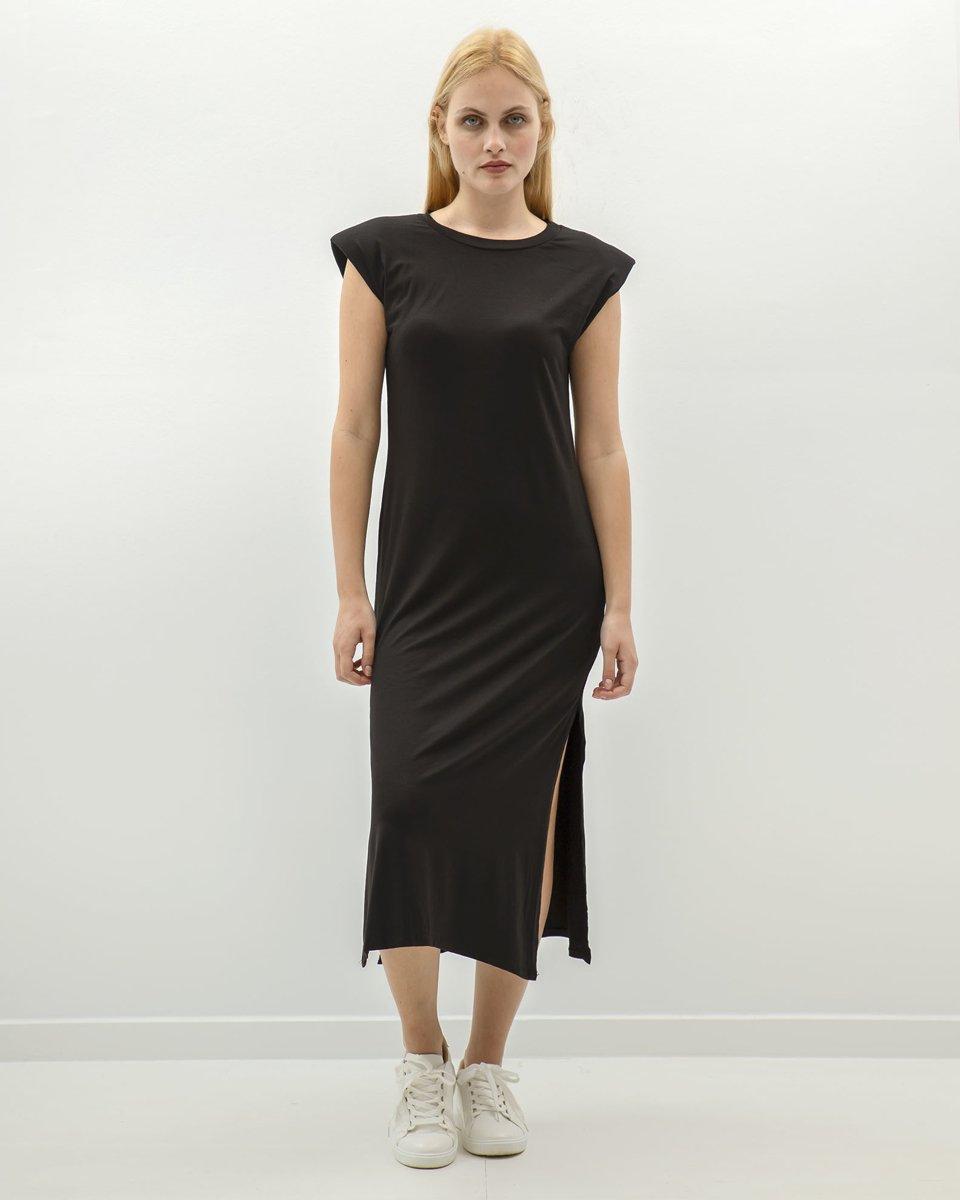 """Μάξι Φόρεμα με Βάτες """"Juliana"""" Μαύρο"""