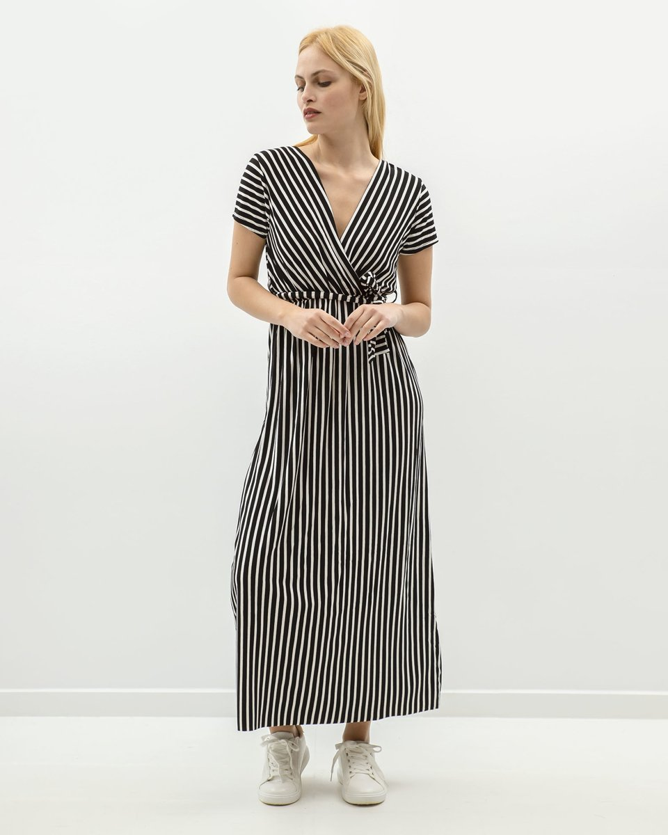"Picture of Maxi Striped Dress ""Merle"" in Black"