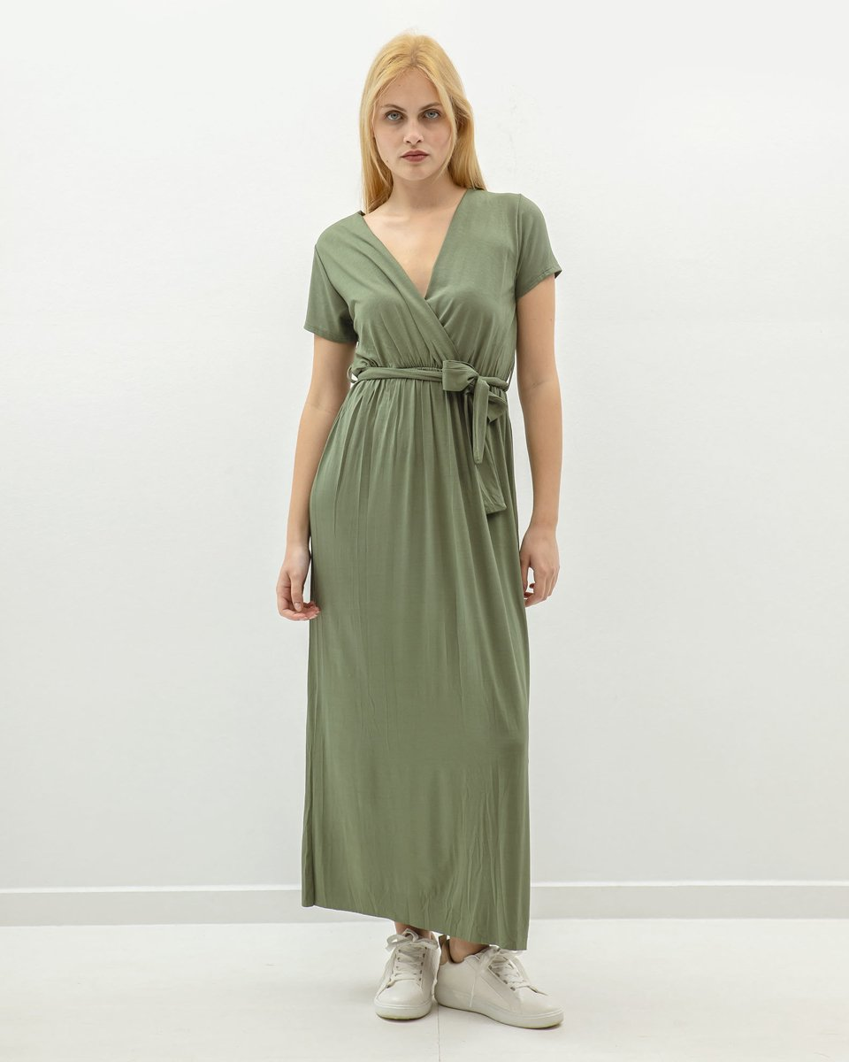 "Picture of Maxi Dress ""Merle"" in Khaki"