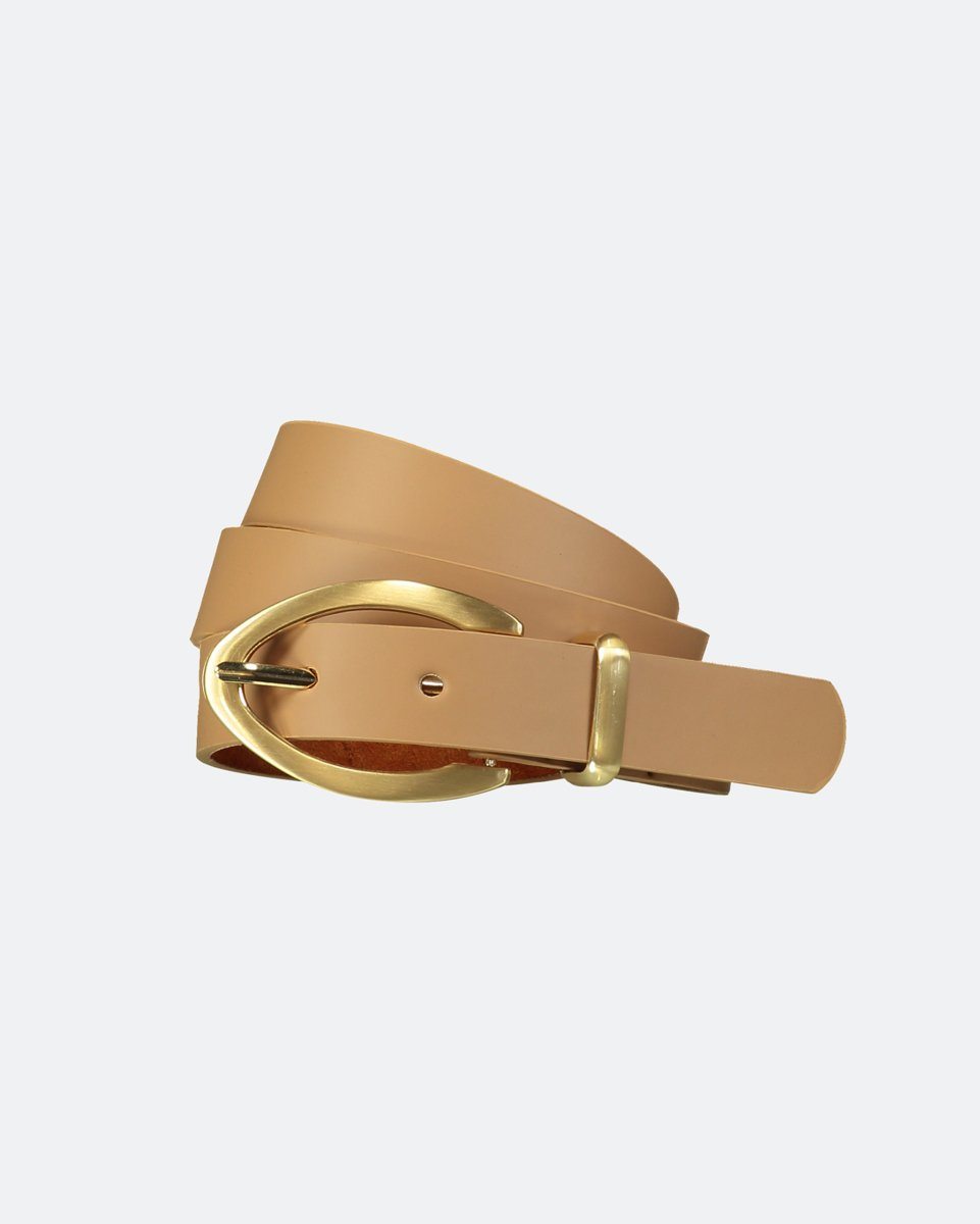 "Picture of Leather Like Belt with Long Buckle ""Amy"" Beige"