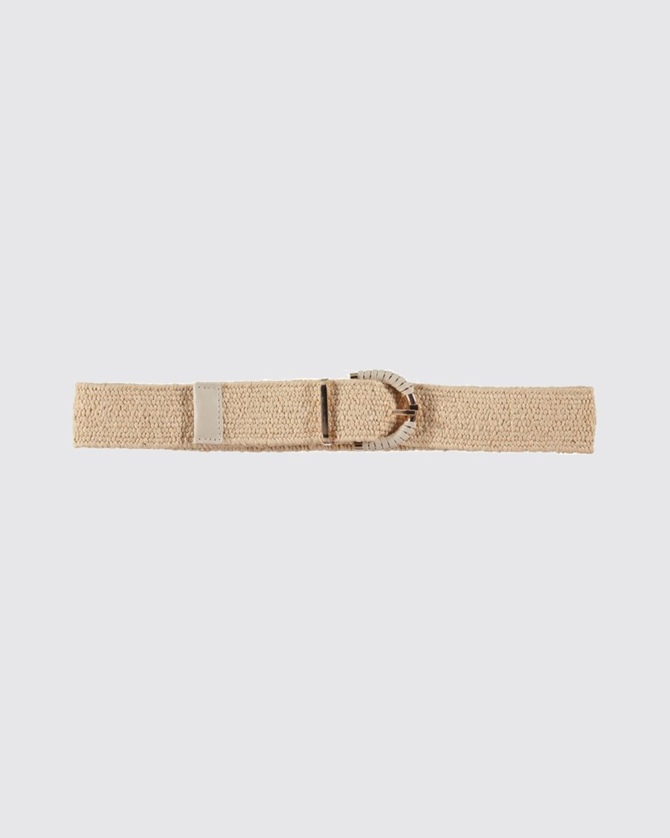 "Picture of Leather Like Belt with Long Buckle ""Ruby"" Beige"