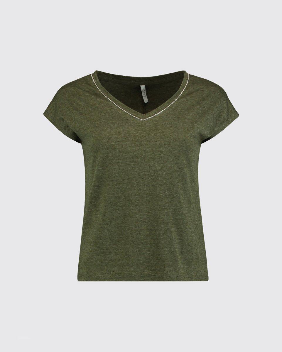 "Picture of Women's Short Sleeve T-Shirt ""Bianca"" in Khaki"