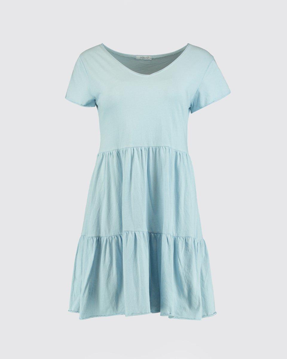 """Μίνι Φόρεμα """"Poppy"""" Ανοιχτό Μπλε"""