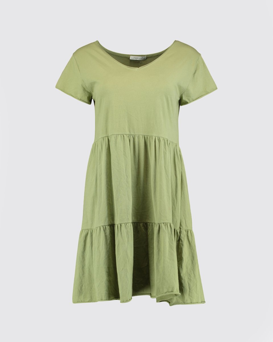 "Picture of Mini Dress ""Poppy"" in Soft Green"