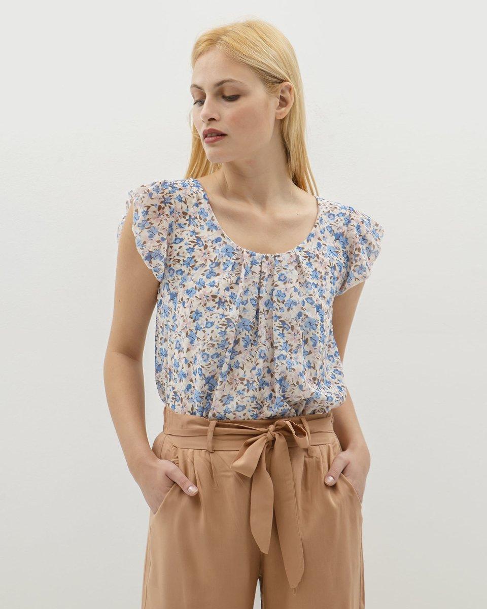 "Picture of Women's Short Sleeve Top ""Nela"" in Blue Light"