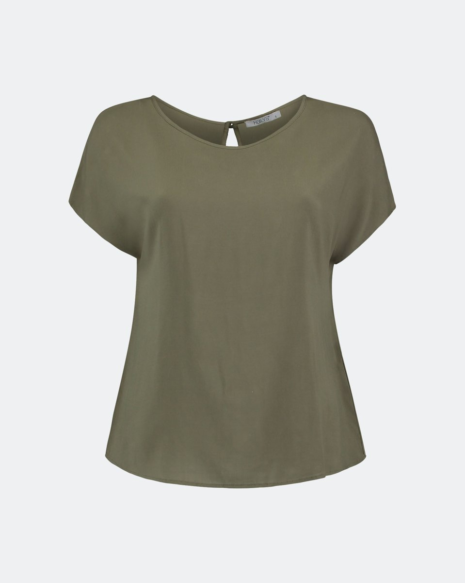 "Picture of Women's Short Sleeve Blouse ""Farina"" in Khaki"