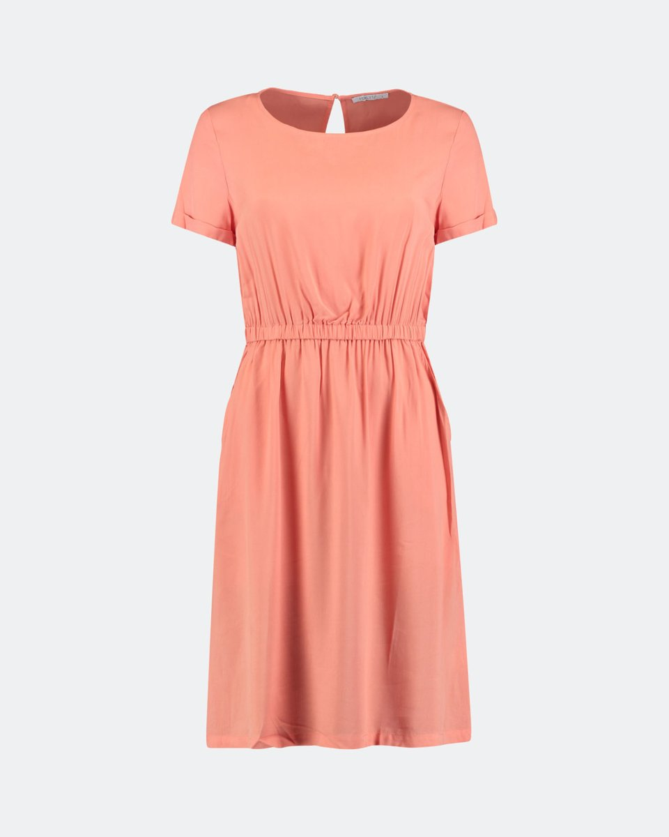 """Picture of Midi Dress """"Denise"""" in Coral"""