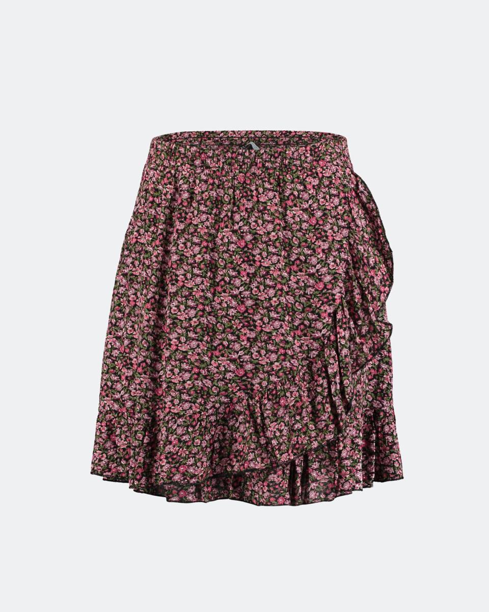 "Picture of Mini Printed Skirt ""Kira"" in Black"