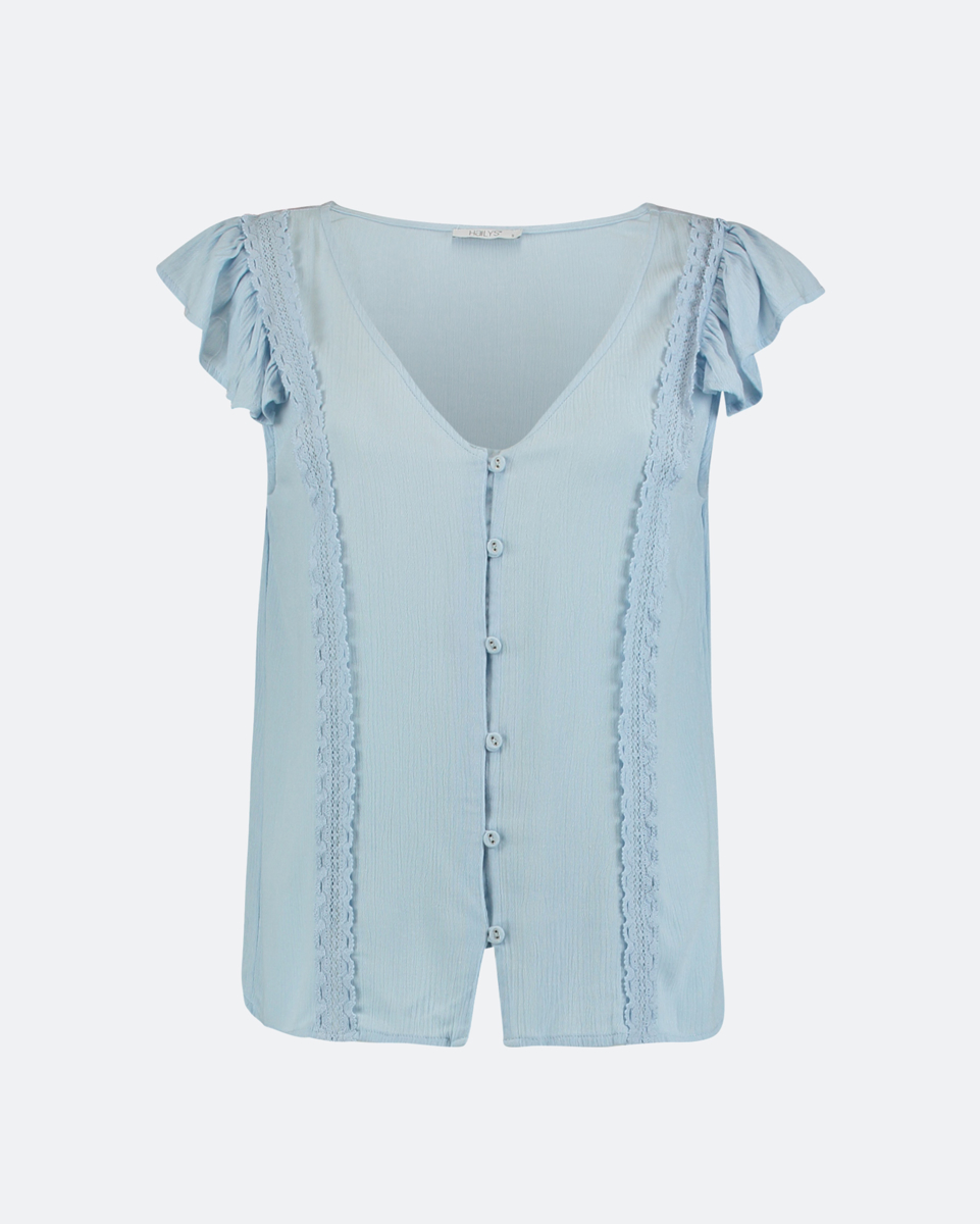 """Picture of Women's Short Sleeve Top """"Lola"""" in Blue Light"""