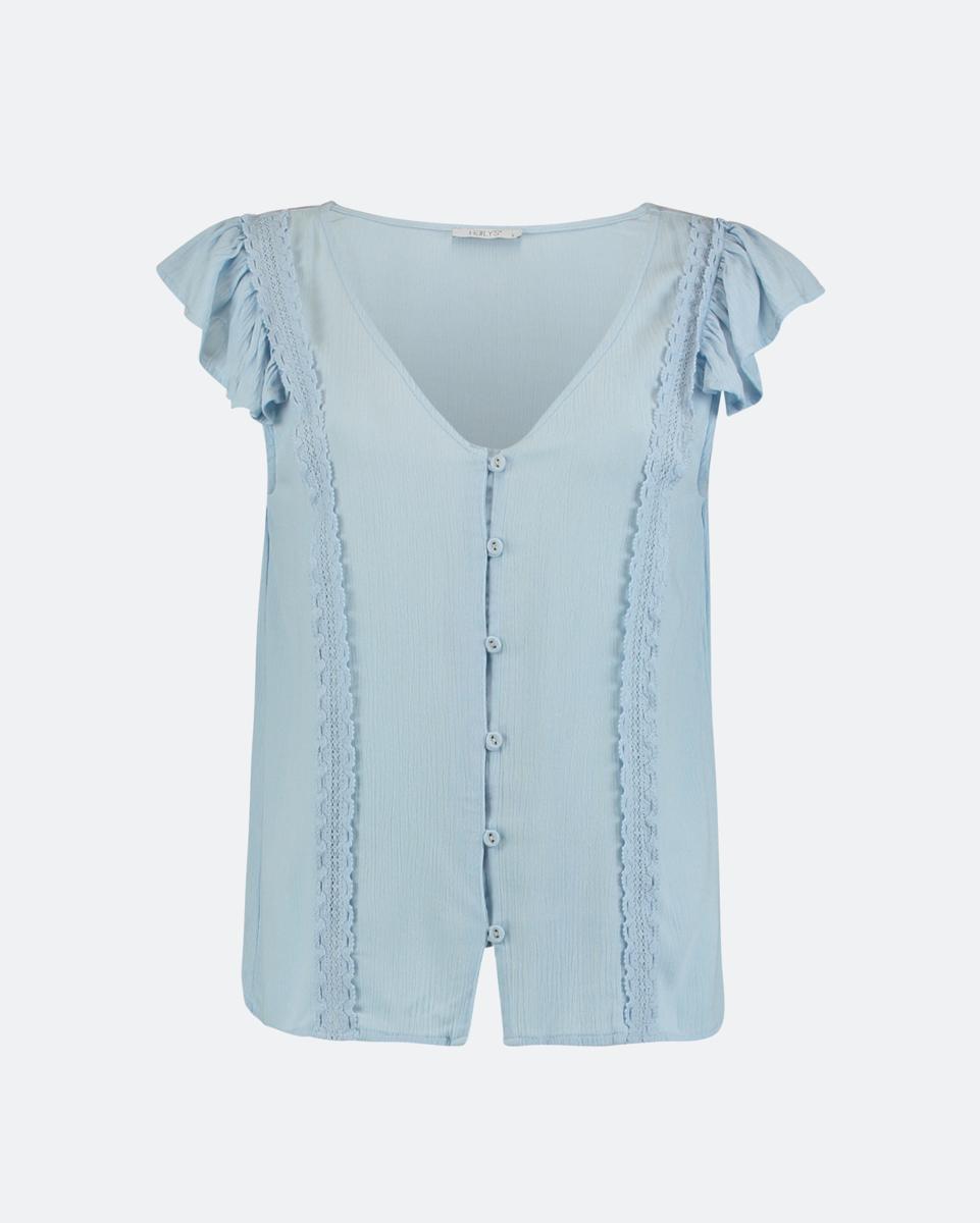 """Γυναικεία Κοντομάνικη Μπλούζα """"Lola"""" Ανοιχτό Μπλε"""