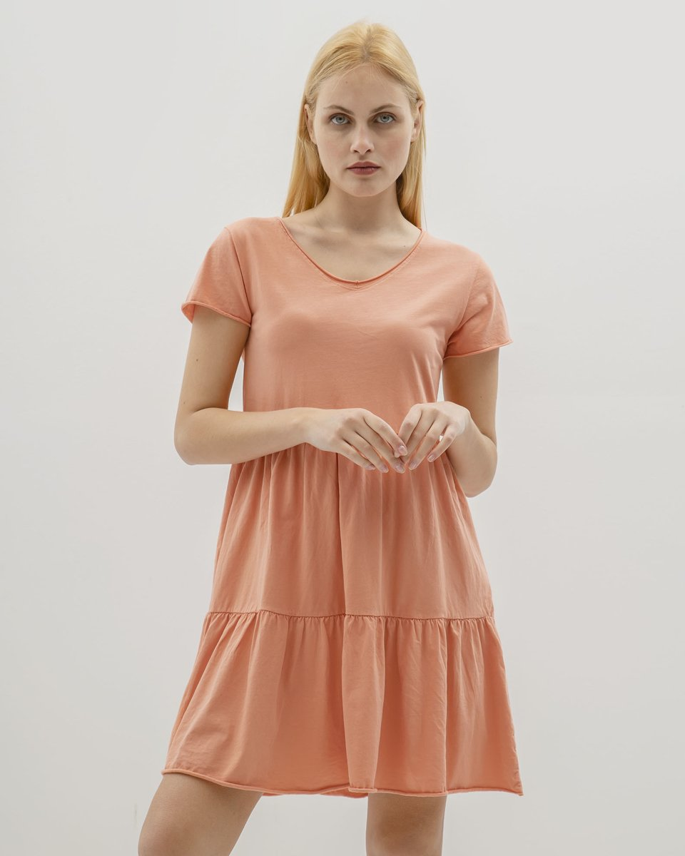 """Picture of Mini Dress """"Poppy"""" in Coral"""