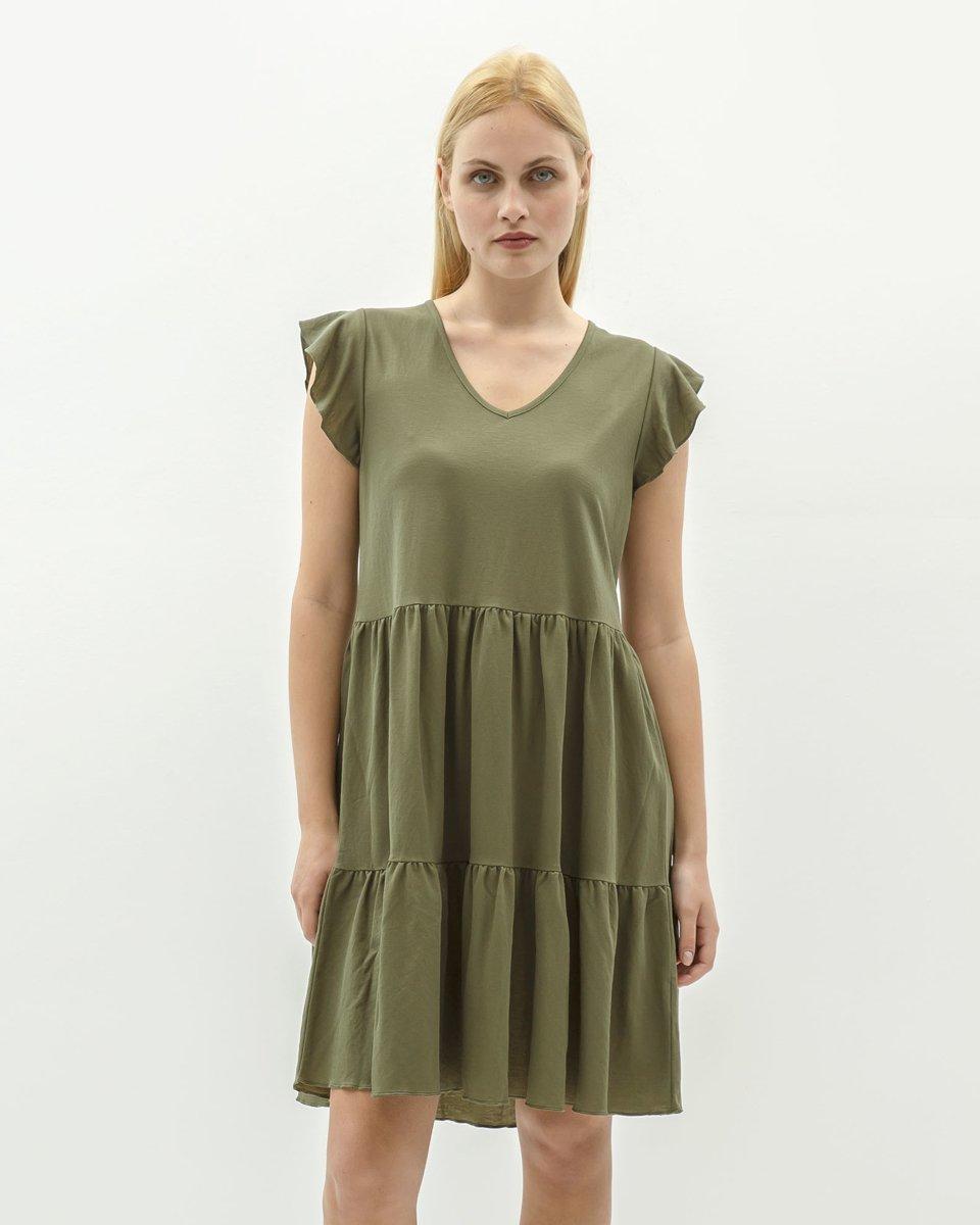 """Φόρεμα Μίνι """"Leonie"""" Χακί"""