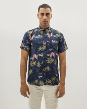 "Picture of Men's  Short Sleeve Floral Shirt ""Havana"" Print 1"