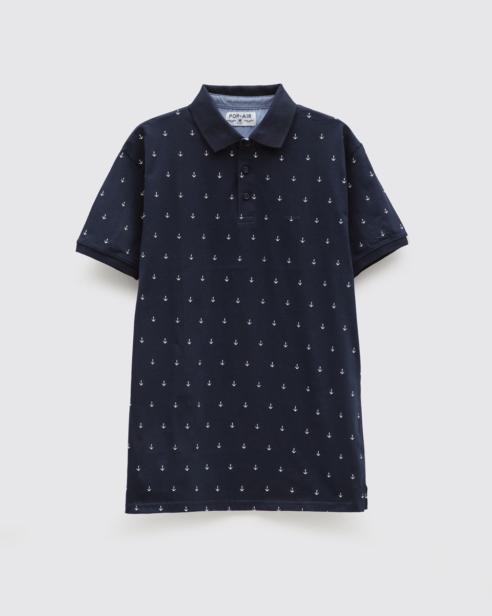 "Picture of Men's Polo Shirt in ""Marine"" in Blue"