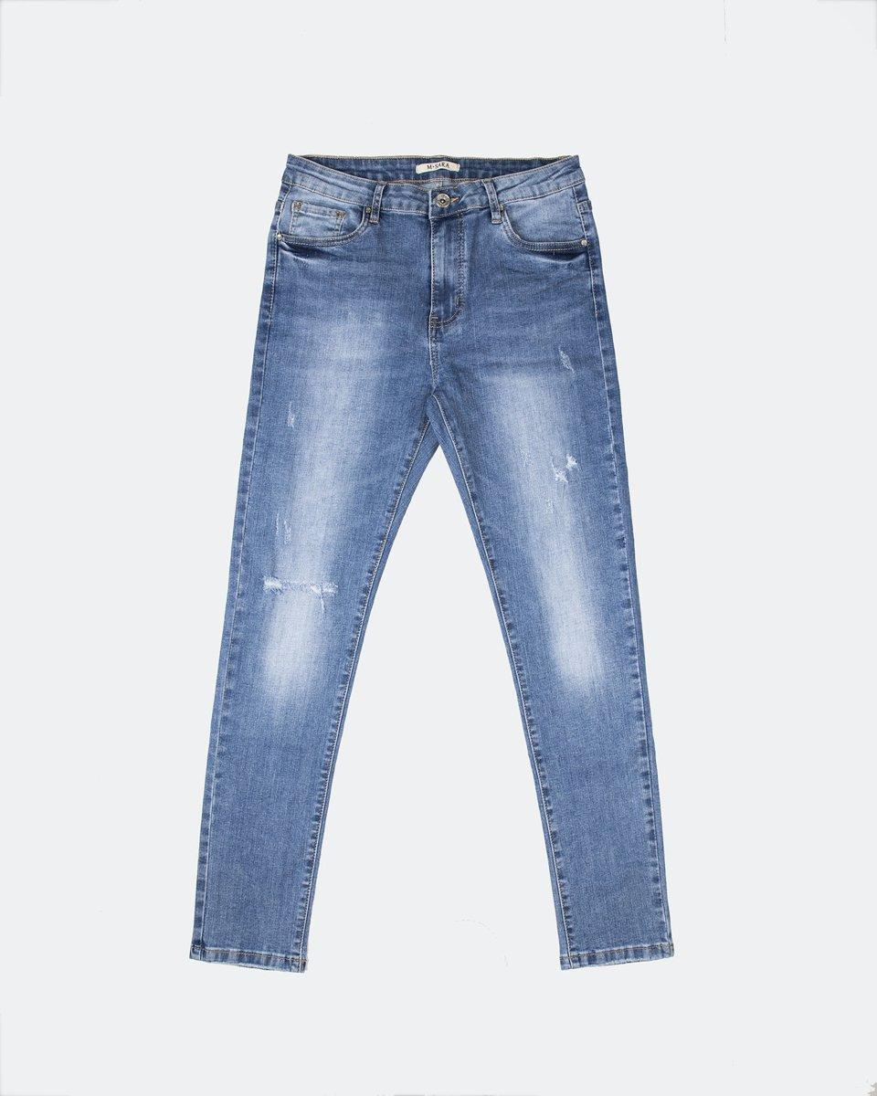 Γυναικείο Denim Παντελόνι F-(MF8028) Μπλε