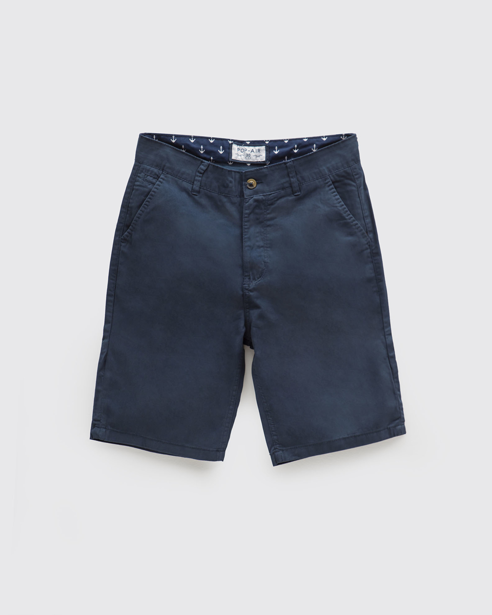 """Picture of Men's Bermuda Chino """"Anchor"""" in Blue"""