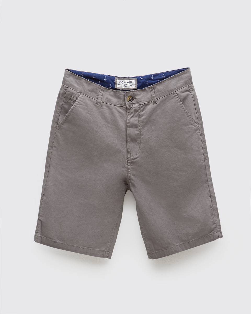 """Picture of Men's Bermuda Chino """"Anchor"""" in Grey"""